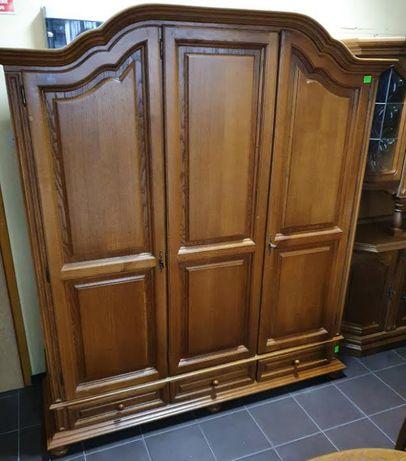 Szafa dębowa 1,8 m z szufladami