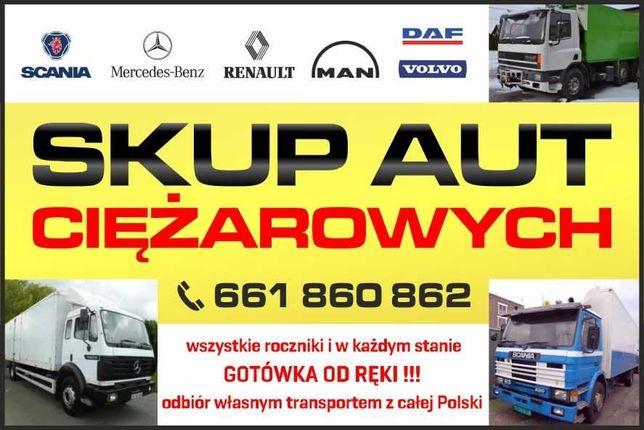 Skup aut ciężarowe ciężarowych. Skup ciężarówek naczep samochodów