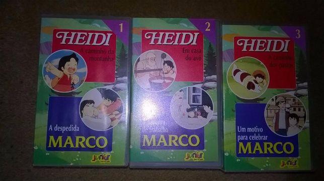Vídeos VHS Heidi e Marco