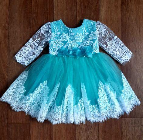 Пышное детское платье 1-3 года. Нарядное платье. Бальное платье
