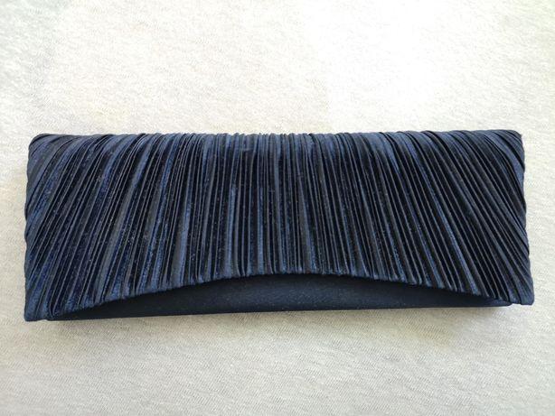 Granatowa torebka kopertówka