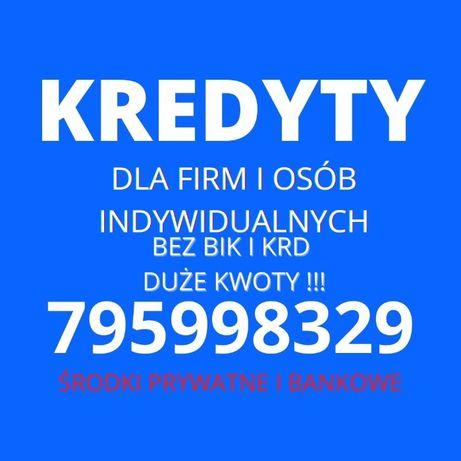 Kredyt/kredyty firmowe do 1MLN zł. Bez ZUS i US bez bik