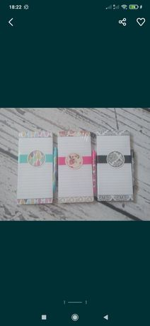 Notes na magnes + długopis