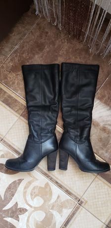 Зимові чоботи шкіряні