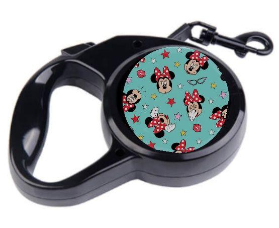 Smycz automatyczna dla psa Disney postacie Minnie Miki Mouse