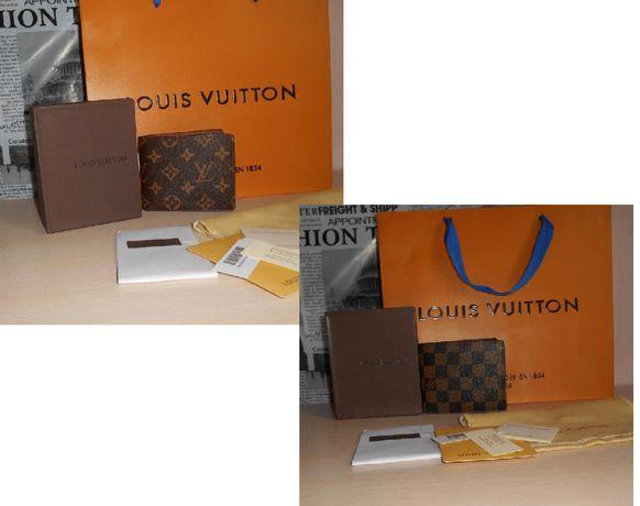 Кошелек, портмоне, бумажник мужской Louis Vuitton, кожа, Франция 014