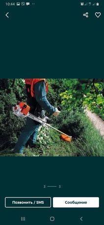 Порезка дров и покос травы