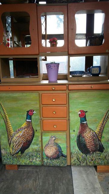 Kredens drewniany stary ręcznie malowany 400 zł