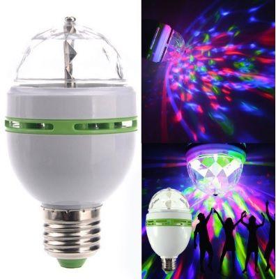 Lampada LED RGB laser rotativa para festas DJ Ambiente NOVO