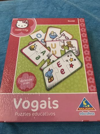 Jogo puzzle Educativo Vogais - Novo