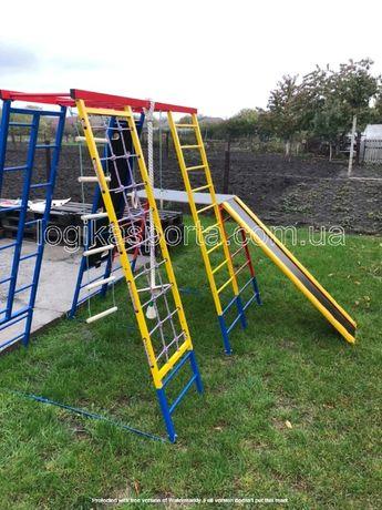 Детская горка, качели, детский спортивный комплекс, площадка, мат