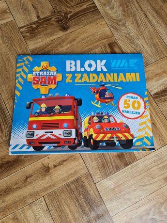 Blok książka album z zadaniami Strażak Sam 50 naklejek