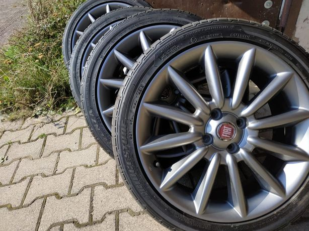 Koła z oponami 17 cali Fiat Bridgestone Potenza