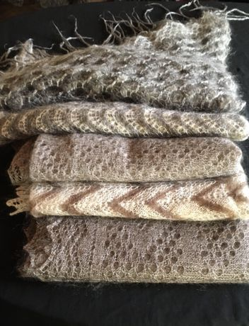 Платки, шарфы оренбургские пуховые