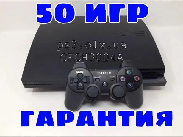 PS3 Slim 320GB Модель CECH3004A более 25 игр гарантия playstation