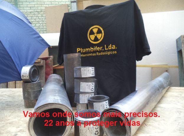 Chapa de chumbo para Barreiras de protecção radiológica