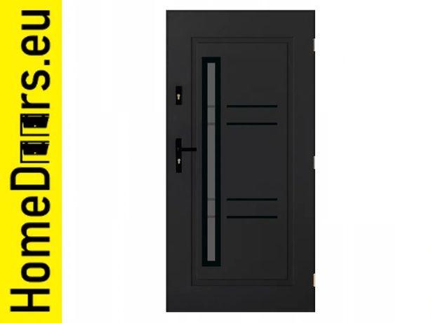 Drzwi zewnętrzne polskie stalowe 72mm Jowisz 01 90