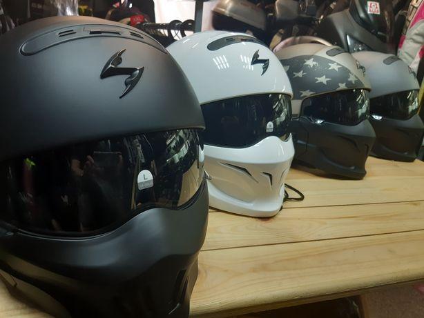 шлем Scorpion Exo Combat, мотокуртка, мотоштаны, мотоботинки, мото