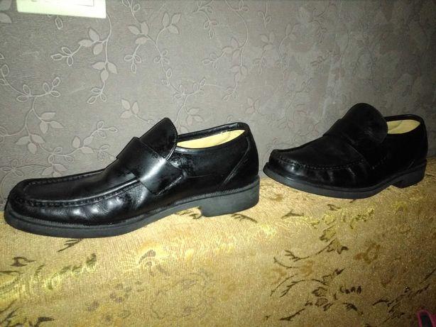 Мужские туфли мокасины кожаные 41 Маркс Спенсер