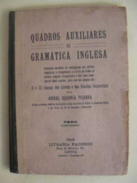 Quadros Auxiliares de Gramática Inglesa por Aníbal Barbossa Piçarra