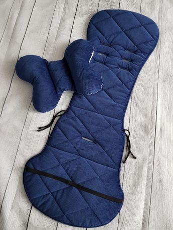 wkładka z poduszką do wózka xcite dla chłopca velvet pikowany