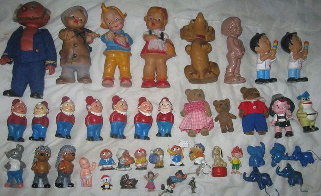 Lalka Miś Zabawka zabawki gumowe lata 60te XXw epoka PRL zabawki Stare