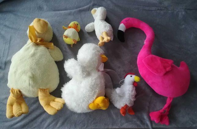 Kura kaczka flamimg pluszaki maskotki drób ptaki