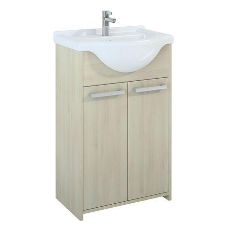 Szafka łazienkowa stojąca z umywalką 55 plus słupek 30 producent ELITA