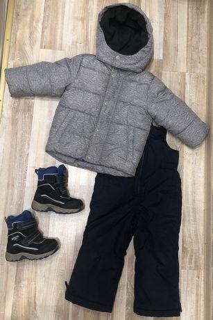 Зимний комплект Геп 84-90. Куртка и полукомбинезон штаны gap. 2 года