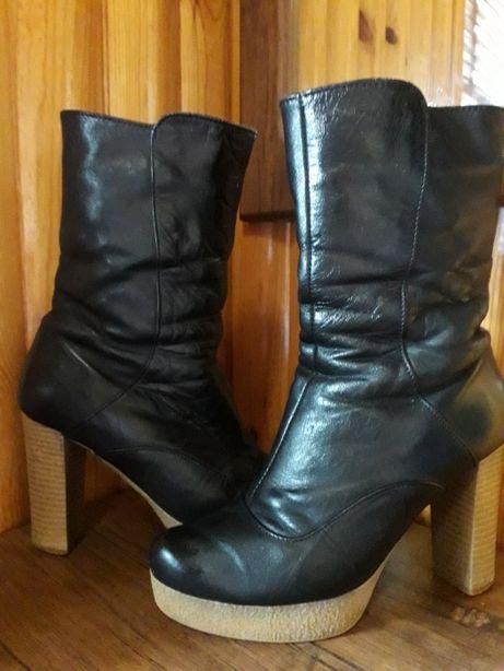 Ботинки ( ботильйоны) зимние кожаные 38р