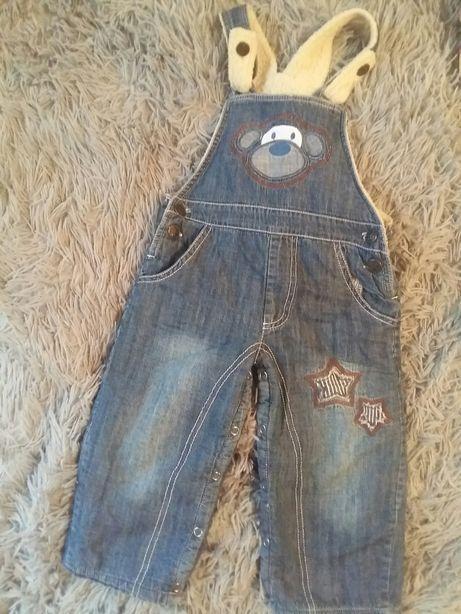 Утепленный комбинезон джинсовый