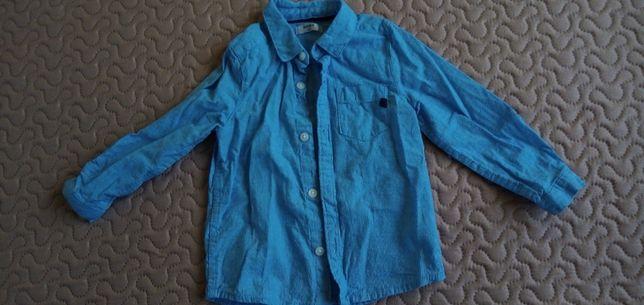 Nowa bluzka bluzeczka koszula kołnierzyk niebieska krata wizytowa r80