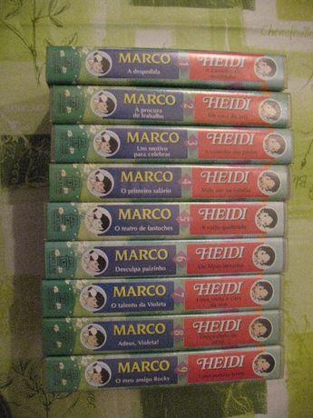 Colecção VHS Heidi e Marco