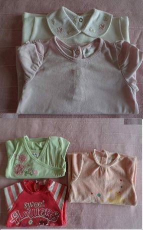 Lote Tops/Camisolas/Pijama, 3-6 Meses