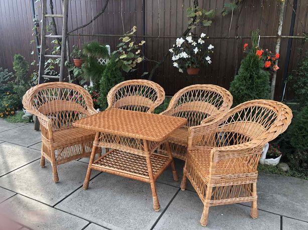 Садовый набор плетеный из лозы\Набір меблів з лози