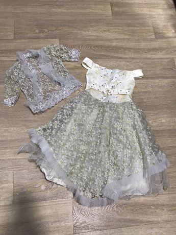 Шикарное пышное нарядное платье 98-110
