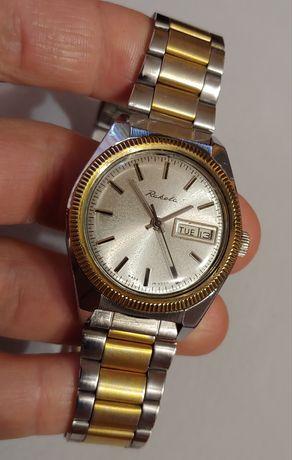 """Часы """"Ракета-Ролекс"""" с позолотой и браслетом калибр 2628 выпуск ссср."""