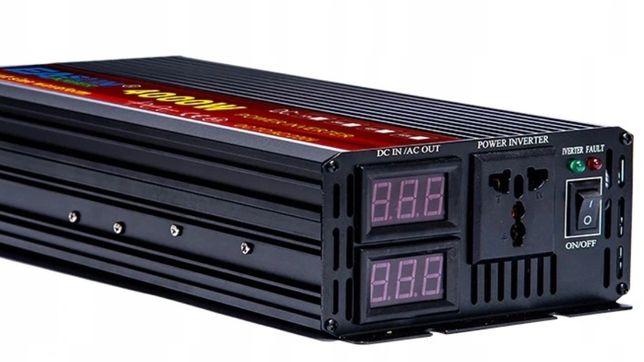 Przetwornica napięcia 2000W/4000W, czysty sinus, 12V DC / 230V AC