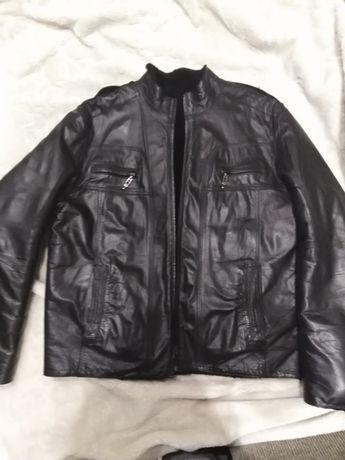 Продам кожаную куртку на натуральном меху