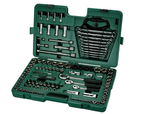 """Zestaw 120 częściowy kluczy nasadowych 1/4"""" 3/8"""" 1/2"""" SATA 09014"""