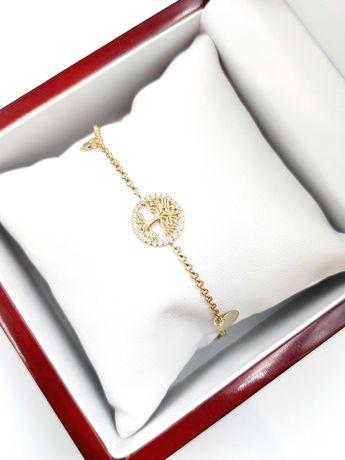 Złota bransoletka Pr. 585 Waga: 4,13 G Plus Lombard