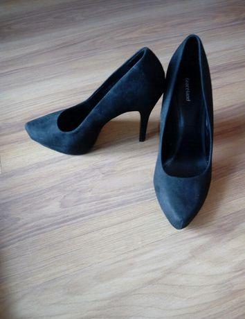 Szpilki czarne buty na wysokim obcasie rozm. 39