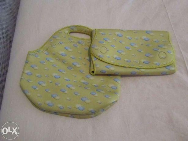 Saco e mudador de fraldas para passeio