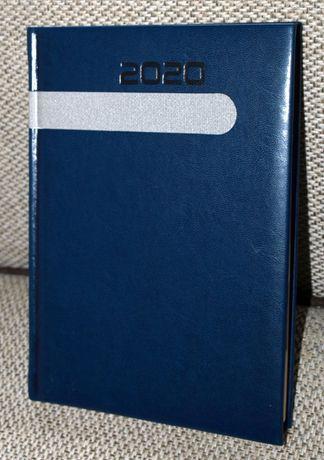 Kalendarz 2020 jako notatnik, A5, niebieski z pasem deko - ostatnia