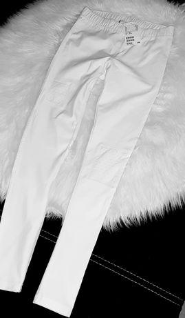 H&M jeansowe legginsy 146 cm