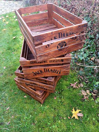 Drewniana skrzynia skrzynka w stylu vintage, Jack Daniels
