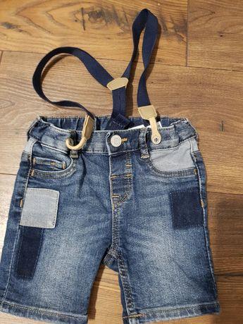 Spodenki jeansowe hm roz 74