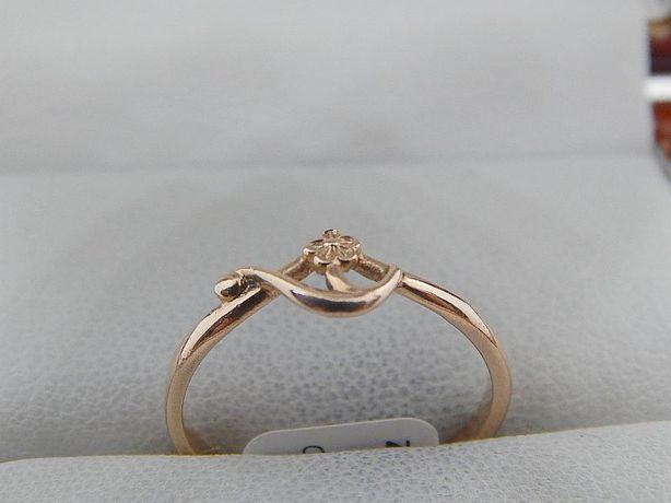 pierścionek złoty złoto pr 585 (14k) waga 1,5 g rozm. 14,5