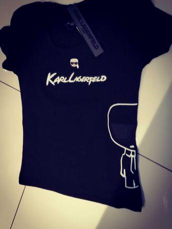 Karl lagerfeld t shirt black s sklep