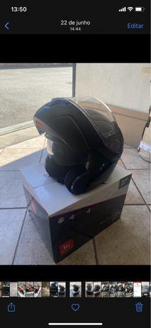 Capacete Moto Modular tamanho L MT Helmets sistema Pinlock